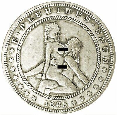 Lez Kiss V1 Morgan Dollar Head Tail Good Luck Token Coin US SELLER FAST SHIPPING