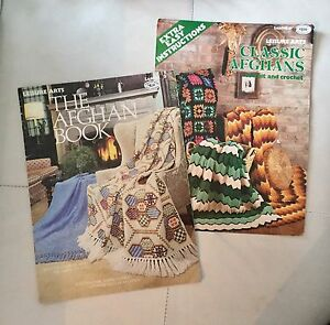 18 Different Afghan Patterns within 2 booklets. $2.00