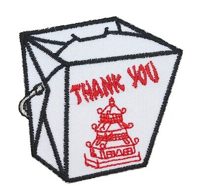 Chinese Food Box (Chinese Food Take Out Patch Fried Rice Box Oriental Restaurant Iron On)