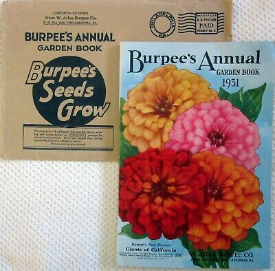 Burpee's Annual Garden Book 1931 Seed Catalog + Envelope, Color Illustrations