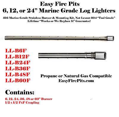 LL-B60F: 316 MARINE GRADE STAINLESS 60″ PROPANE GAS LOG LIGHTER