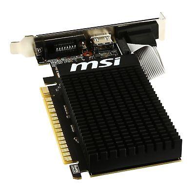 MSI GeForce GT 710 1GD3H LP Graphics Card, Fanless Heatsink, Low Profile 4