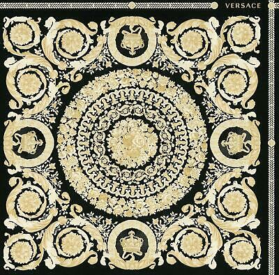 Versace Heritage Black Gold Wallpaper Baroque Ornament Metallic Paste Wall