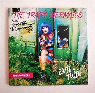 Rare HTF Signed The Trash Mermaids Evil Twin Remixes Blue Vinyl Numbered Album