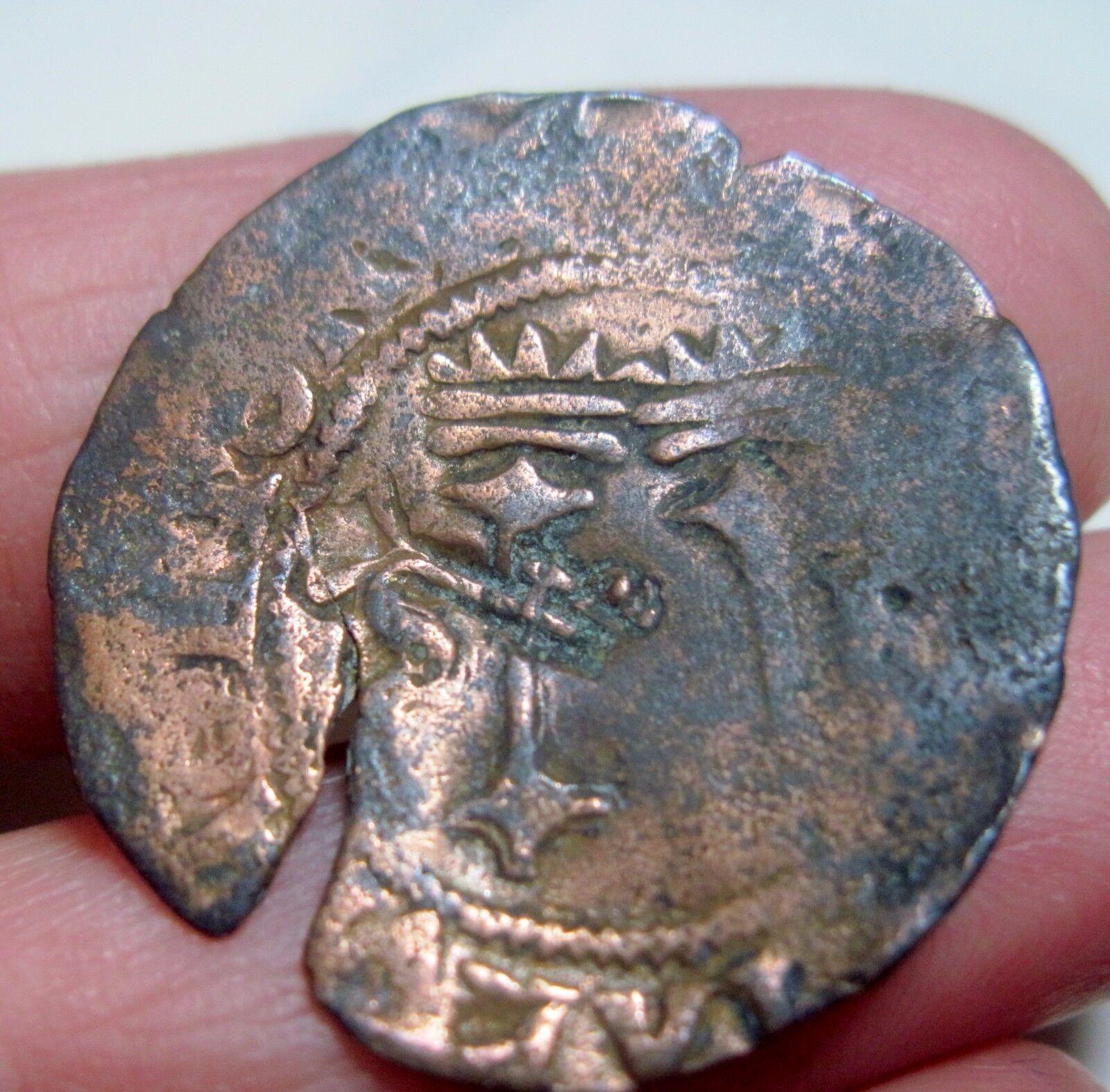 (1516-1556 ) DOMINICAN REPUBLIC 4 MARAVEDIS w/ KEY COUNTERMARK ---1st Coinage -