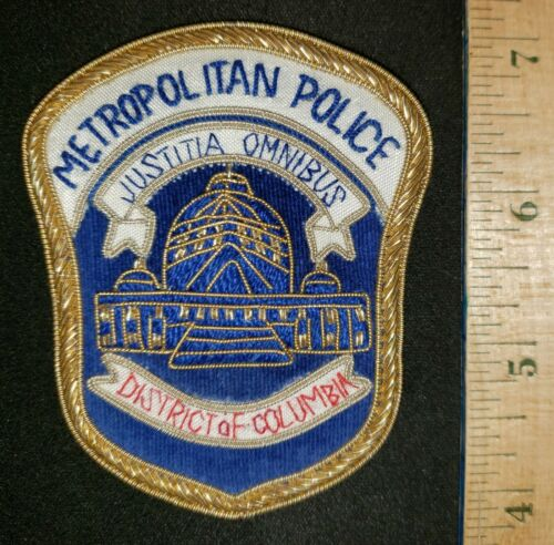 METROPOLITAN POLICE WASHINGTON DC BULLION PATCH DISTRICT OF COLUMBIA MPD D.C.