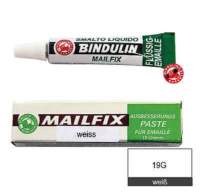 Reparatur Paste weiß white 19g flüssiger Kunststoff f. Emaille Porzellan Mailfix