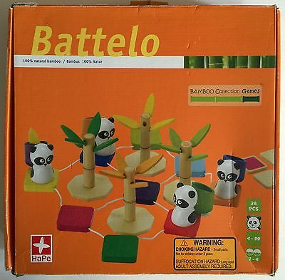 Hape Bamboo Collection - Hape Battelo Wooden Bamboo Collection Panda Game