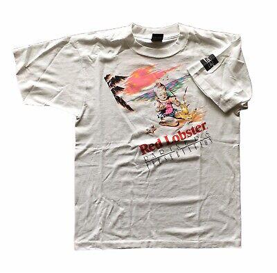 VTG Red Lobster Promo T Shirt Sz Large White Single Stitch Coca Cola