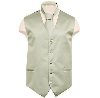 New Brand Q Formal Men's Vest tuxedo waistcoat & Necktie Sil
