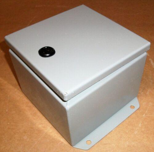 "ELECTRICAL ENCLOSURE JUNCTION BOX HAMMOND EJ664 NEMA 12 METAL 6"" 4"" NEW AS SHOWN"