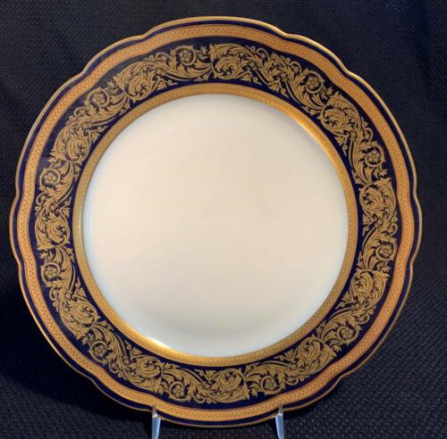 Bernardaud Vendome Cobalt Blue Dinner Plate 10 1/4 Inches