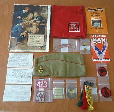 Vintage Boy Scouts Lot 1940's Memorabilia Pennsylvania Troop 423 Collectibles