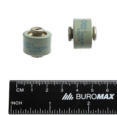 2 Pcs 330pf 10kv High Voltage Doorknob Ceramic Capacitor Kvi-3 Nos