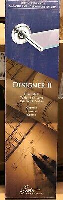 Designer Glass Vanity Shelf (Gatco Designer II Collection - Bathroom Vanity Shelf - Chrome/Glass - New )
