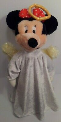 Vintage 2000 Disney Store Plush Angel Wings Minnie Mouse Christmas Tree Topper L