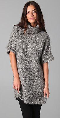 [Rosel] Oversized Boxy Wool Sweater Dress Melange Grey Sz L / Turtleneck / New
