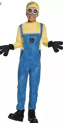 Despicable Me 3 Minion Dave Child Costume Large Size 12-14 (for ages 8-10) New