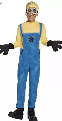 Despicable Me 3 Minion Dave Child Costume Large Size 12-14 (for ages 8-10) New - Minion Halloween Costume For Kids