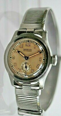 Vtg. Marvin WW11 military style automatic watch