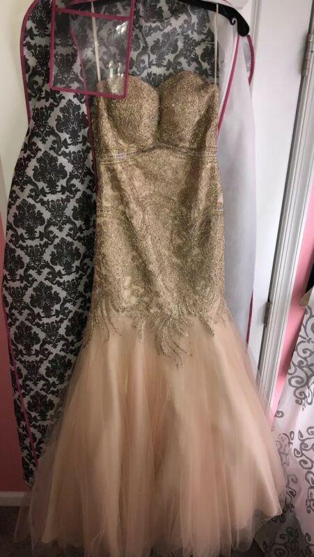 Mermaid Prom Dress (Rose Gold) Size 2