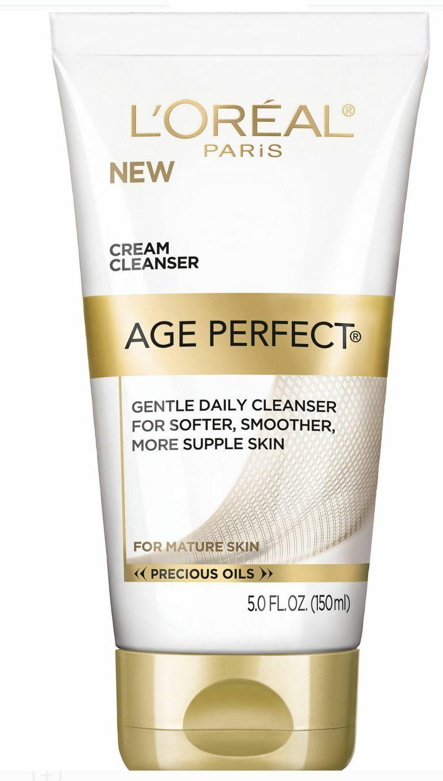 2 L'Oreal Paris Age Perfect Cream Cleanser Tubes Face Wash