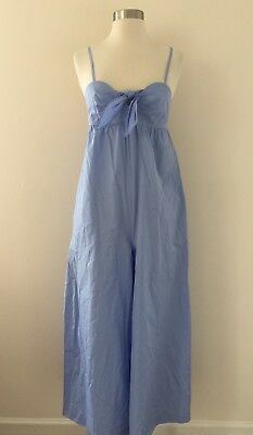 New COLLECTION THOMAS MASON FOR J CREW TIE-FRONT JUMPSUIT 00 BLUE G4619