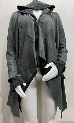 Isaac Sellam Experience Lambskin Leather Hooded Jacket Women's 36 Wool Liner