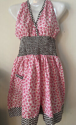 Kay Dee Designs Pink Smocked Girlie Kitchen Apron One Size New NWT