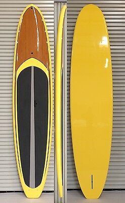 "12'0 x 31.65"" x 4.75"" PACKAGE DEAL Stand Up Paddle Board Touring Yellow SUP"