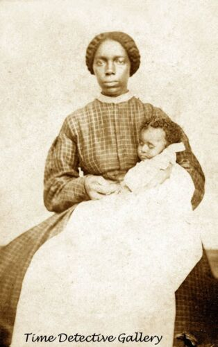 African American Woman and Her Infant - 1860s - Historic Photo Print