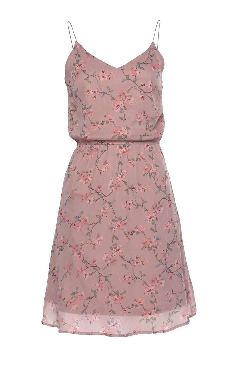 Kleid VERO MODA rosa kurz ausgestellt geblümt Gr M L