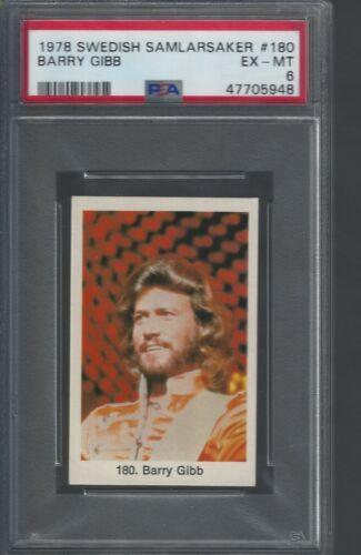 1978 Barry Gibb Bee Gees Card PSA 6 Swedish Samlarsaker # 180 Only One Higher