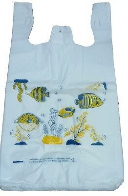 Lot 5000 Fish Plastic T-shirt Shopping Bags For Animals And Pets Stores Large