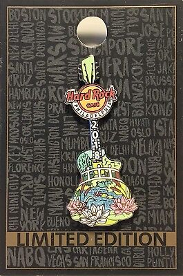 Hard Rock Cafe Philadelphia Pin Flower Show Guitar 2018 HRC New LE # 98182