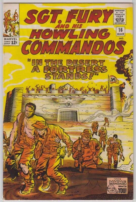 L0496: Sgt. Fury #16, Vol 1, VF Condition