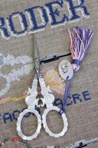 """Embroidery SCISSORS Sajou S Motif Mother of Pearl 4-1/2"""""""