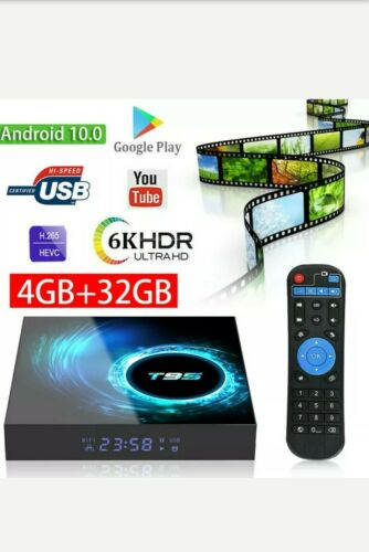 USA Seller 2020 Android 10 TV Box T95 4GB 32GB H616 Quad Cor