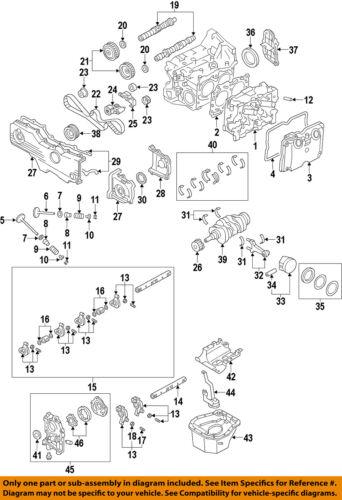 subaru oem 06-11 impreza-engine timing cover right 13573aa140 | ebay  ebay