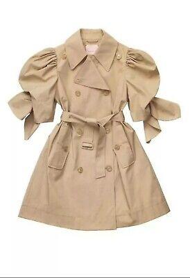 Simone Rocha x H&M Trenchcoat Coat Mantel Size M 38 Beige Puffärmel...
