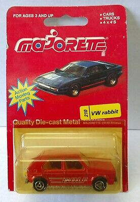 Majorette VW Volkswagen Golf  Rabbit No. 210 MINT on CARD made in France