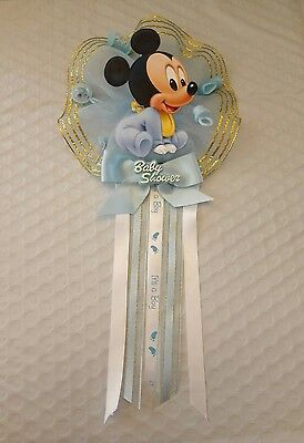 Baby Mickey Mouse, Baby Shower Mother to be Corsage, Blue for Boy's - Baby Shower For Boy