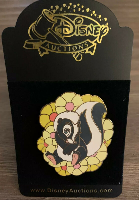 Disney Auctions Bambi Flower in Yellow Flowers Pin LE 250 HTF Rare Skunk Spring