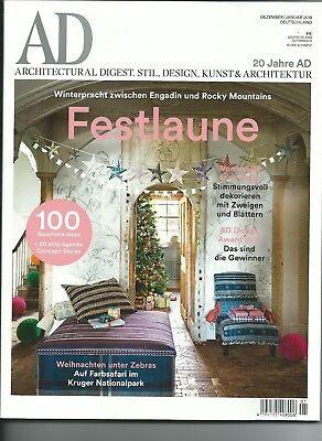 AD Architectural Digest Festlaune Dezember/Januar 2018