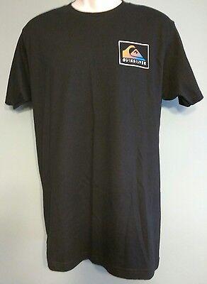 NEW Quiksilver Men's M Tee T-Shirt Short Sleeve Black  Logo Cotton