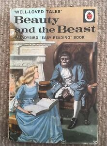 Vintage Ladybird 'WLT' Beauty And The Beast Book Series 606D 2'6 Net Early Ed.