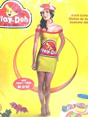 Play Doh Costume Halloween (Play-Doh Costume Womens Tank Dress Funny Adult Halloween Fancy Fantasy)