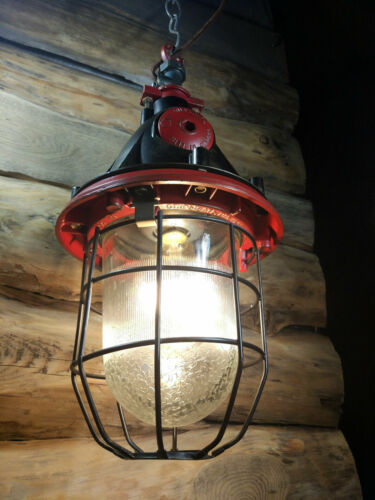 Vintage Industrial lamp Pendant Light bunker lamp Loft USSR