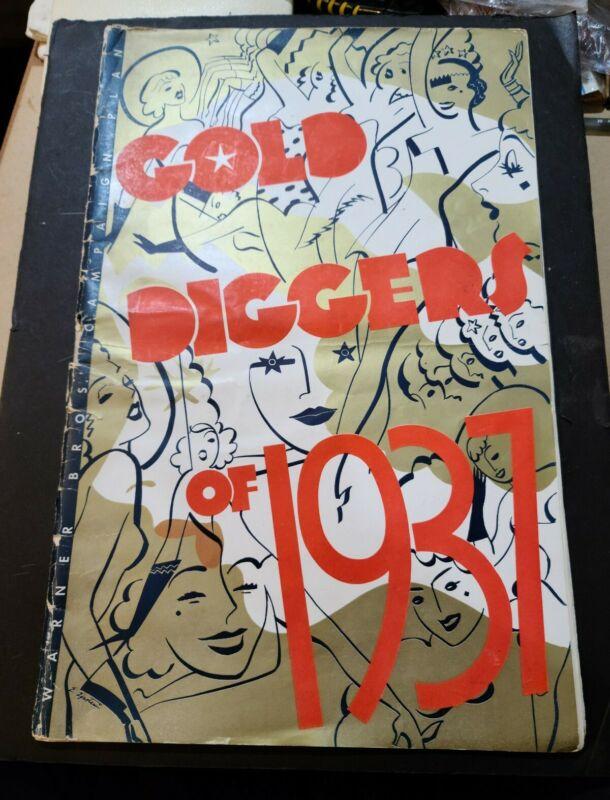 GOLD DIGGERS OF 1937 LARGE UNCT PRESSBOOK BUSBY BERKELEY DICK POWELL ART DECO