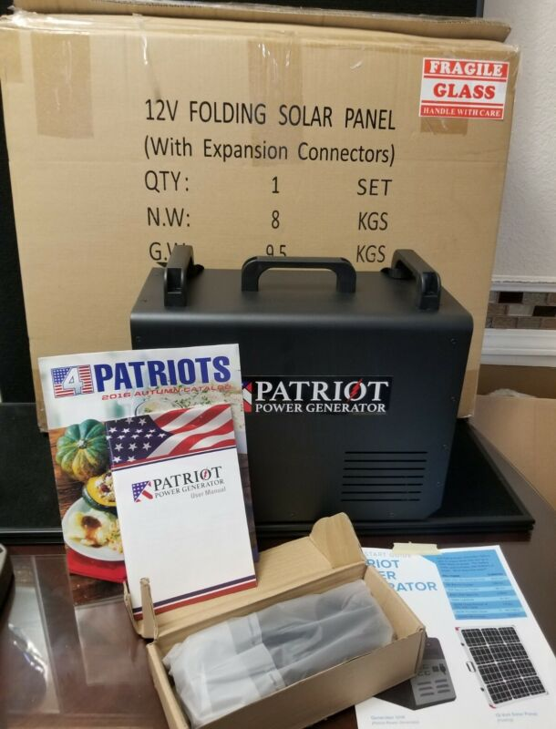 Patriot 1500 Power Generator With Solar Panel Never  New